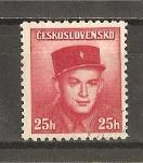 Stamps Czechoslovakia -  Soldados Celebres.- Emision de Londres.