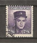 Sellos de Europa - Checoslovaquia -  Soldados Celebres.- Emision de Londres.