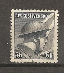 Stamps Czechoslovakia -  Soldados Celebres - Emision de Londres.