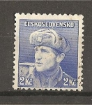 Sellos de Europa - Checoslovaquia -  Soldados Celebres - Emision de Londres.