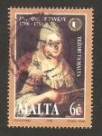 Stamps Europe - Malta -  maria amelia grognet por antoine de favray
