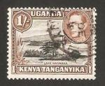 Stamps Kenya -  Kenya Uganda Tanganika - george VI y lago naivasha