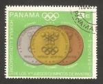 Stamps : America : Panama :  477 - Homenaje a los ganadores de las Olimpiadas de Invierno en Grenoble