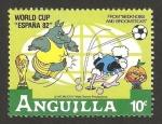 Sellos de America - Anguila -  mundial de fútbol España 82