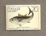 Stamps Portugal -  Madeira.Pez Thunnunus obesus
