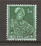 Stamps Switzerland -  Serie Historica - papel con fragmentos de hilo de seda.