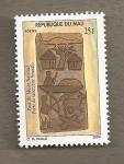 Sellos del Mundo : Africa : Mali : Puerta santuario Senoufo