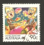 Stamps of the world : Australia :  Sistema bancario