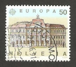 Stamps Switzerland -  1347 - Europa Cept, edificio de correos de Lucerna