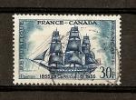 sellos de Europa - Francia -  Francia-Canada /Velero