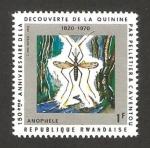 Stamps Africa - Rwanda -  150 anivº del descubrimiento de la quinina por caventou y pelletier