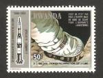 Sellos de Africa - Rwanda -  10 anivº de la llegada del hombre a la luna