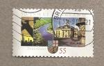 Sellos de Europa - Alemania -  50 Aniv de la admisión del Sarrre en la República Federal