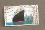Stamps Germany -  Vapor Bremen ganador de la cinta azul