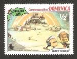 Sellos del Mundo : America : Dominica : Navidad 81, trabajando en el almacén