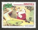 Sellos de America - Dominica -  Navidad 81, trabajando en el almacén