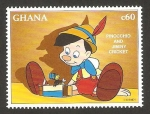 Stamps Africa - Ghana -  pinocho y pepito grillo