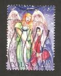 Sellos de Europa - Polonia -  navidad, la anunciación