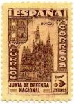 Stamps Spain -  JUNTA DE DEFENSA NACIONAL 804