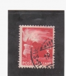 Stamps Italy -  antorcha olímpica