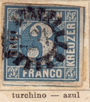 Sellos del Mundo : Europa : Alemania : Reino baviera Edicon 1849