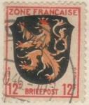 Sellos del Mundo : Europa : Alemania : ALEMANIA 1945 Freimarken: Wappen der Lander der franzos. Zone und deutsche Dichter - Pfalz 12