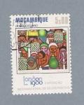 Sellos de Africa - Mozambique -  Exposición Internacional de sellos postales