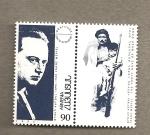 Stamps Asia - Armenia -  Franz Wefel, agradecimiento