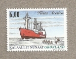 Stamps Europe - Greenland -  Barco Kista Arctica