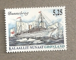 Stamps Europe - Greenland -  Barco Dannebrog