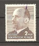 Stamps Germany -  Walter Ulbritcht.- Nueva Moneda.