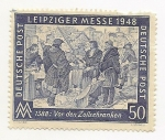 Stamps : Europe : Germany :  Liepziger Messe 1948