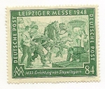 Stamps Europe - Germany -  Leipziger Messe 1948