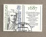 Stamps Russia -  Isaac Newton, físico y matemático