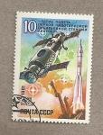 Stamps Russia -  10 aniv de la estación orbital Salyut