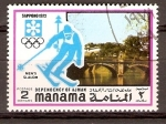 Stamps United Arab Emirates -  SAPPORO  1972