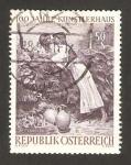 Stamps Austria -  centº de la casa de los artistas, el beso, de pettenkofe