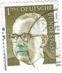 Sellos de Europa - Alemania -  ALEMANIA 1970 (Y516) Presidente G.Heinemann. Alemania Federal (DBP) 1