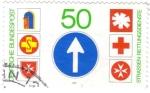 Sellos del Mundo : Europa : Alemania : ALEMANIA 1976 (M1004) Bundesrepublik strassen rettungsdienste 50