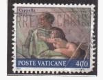 Stamps Vatican City -  Fracmento de la capilla sixtina