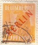 Stamps Germany -  ALEMANIA 1948-9 (M27) Berlin impresion en rojo 25