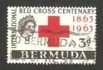 Stamps : America : Bermuda :  centº de la cruz roja internacional