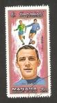 Stamps : Asia : United_Arab_Emirates :  Manama - Luigi Riva (Italia), futbolista
