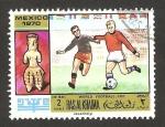 Sellos del Mundo : Asia : Emiratos_Árabes_Unidos : Ras Al Khaima - Mundial de fútbol México 1970
