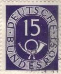 Sellos de Europa - Alemania -  ALEMANIA 1951 (M129) Freimarken: Posthorn  15