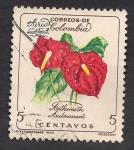 Sellos del Mundo : America : Colombia : Anthurium Andreanum.