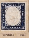 Stamps Italy -  Vittorio Emanuele II