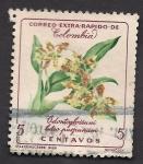 Sellos del Mundo : America : Colombia : FLORES: Odontoglossum luteo purpureum