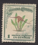 Sellos del Mundo : America : Colombia : Orquídeas Colombianas: Masdevallia Nycterina.