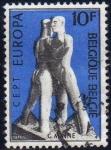 Sellos de Europa - Bélgica -  Belgica 1974 Scott 869 Sello Europa CEPT Escultura Solidarity de Georges Minne usado